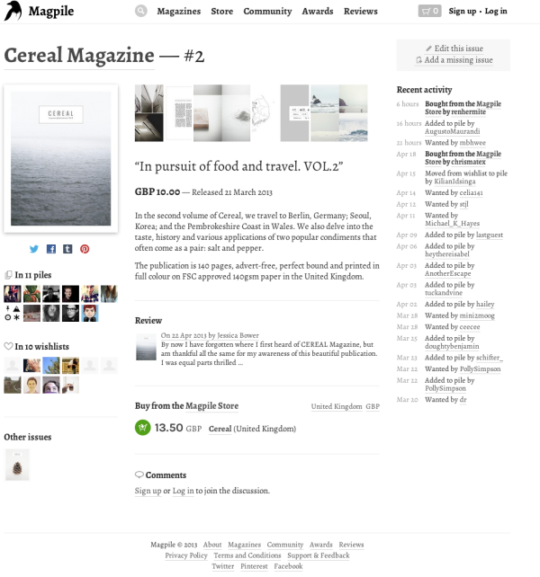 Cereal Magazine   2 on Magpile