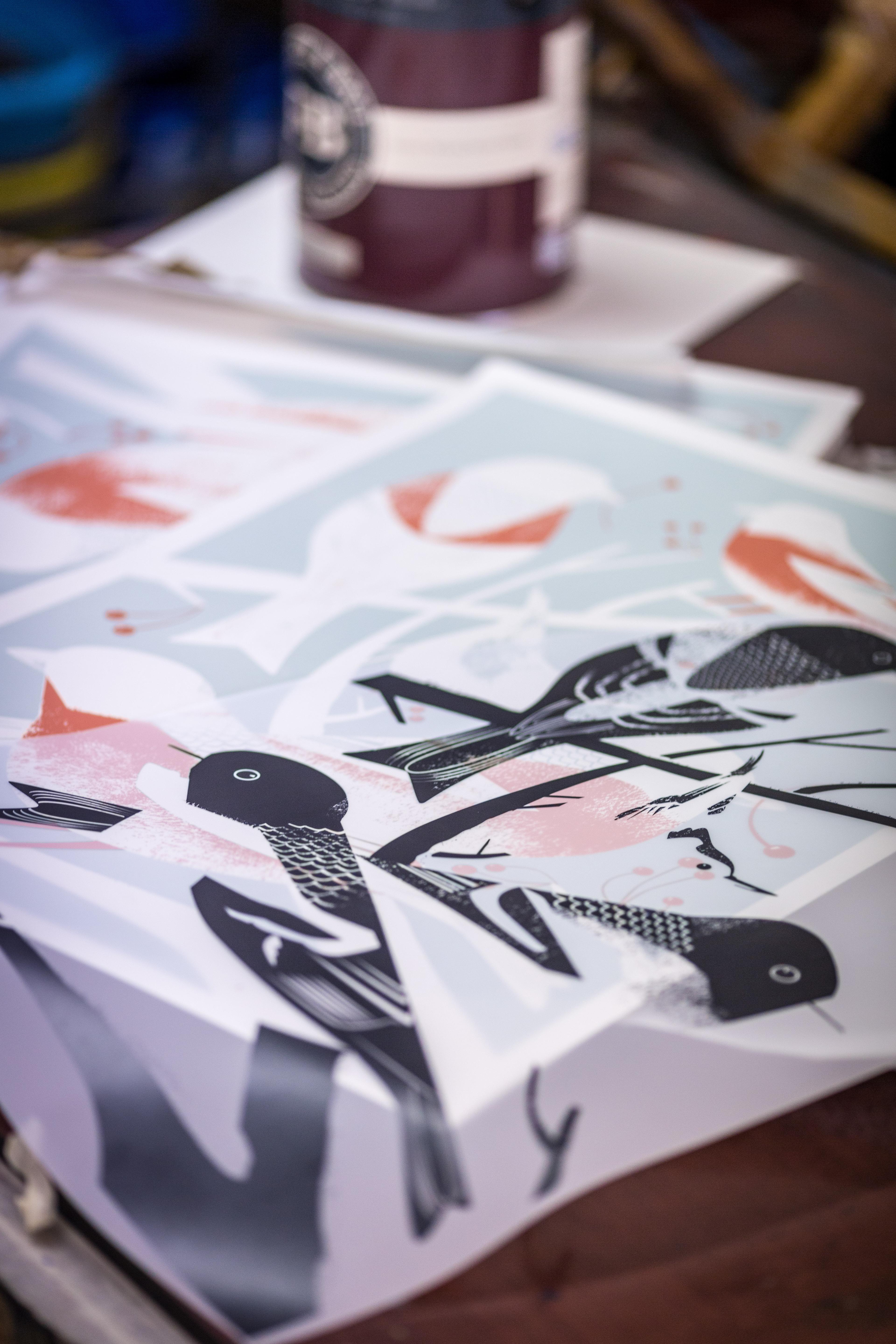 Screen printing with Farrow & Ball and Print Club London ...