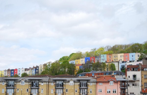 colourful houses clifton bristol